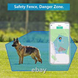 GPS Pet Tracker No Monthly Fee Dog Real-Time Tracking Health activity Monitoring