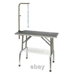 Go Pet Club Heavy Duty Stainless Steel Pet Dog Grooming Table withArm, 30-Inch NEW