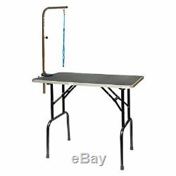Go Pet Club Pet Dog Grooming Table with Arm 48-Inch