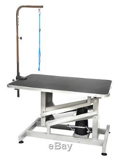 Go Pet Club Z-Lift Hydraulic Professional Dog Grooming Table with Arm