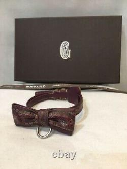 Goyard Adjustable Small Dog Cat Animal Pet Collar With Button Ribbon withBOX F/S