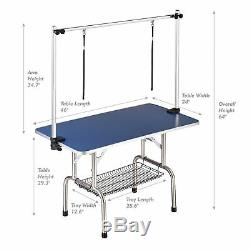 HAIGE PET Dog Grooming Table, Large Heavy Duty withAdjustable Overhead Arm Clamps