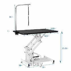 Heavy Duty Big Hydraulic Dog Pet Grooming Table Size Z-Lift Pet Grooming Table