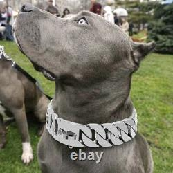Heavy Duty Dog Collar Pet Large Dogs Choker Chain Collar Stainless Steel Trainer