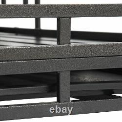 Heavy Duty Dog Pet Crate Cage with Roof Roof Can Not Open Large 45In Four Whee