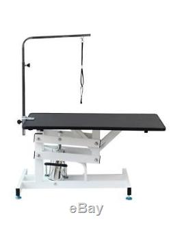 Heavy Duty Hydraulic Adjustable Pet Grooming Table Dog Cat Arm Clamp Z Lift Fram