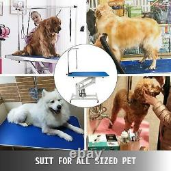 Heavy Duty Z-Lift Pet Dog Grooming Table Height Adjustable 330lbs Drying Table