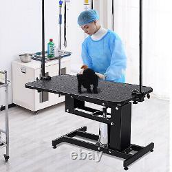 Heavy Duty Z-lift hydraulic pet dog grooming table for large dogs with clamb/arm