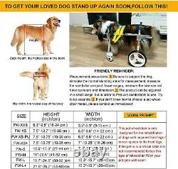 HiHydro 4 Wheel Adjustable Dog Wheelchair Pet Wheelchair for Handicapped Hind