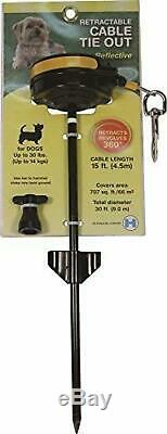 Howard Pet Products Dog Retractable Tie-Out Cable Small Yard Adjustable Leash