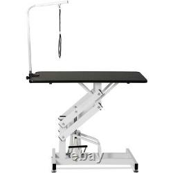 Hydraulic Dog Cat Pet Grooming Trimming Table Adjustable Professional US