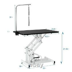 Hydraulic Dog Pet Grooming Table Heavy Duty Big Size Z-Lift with Adjustable Arm