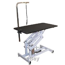 Hydraulic Grooming Table Pet Dog Supply Adjustable Height Type H Base