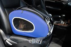 Ibiyaya Convertable Pet Carrier & Car Seat on Wheels for Cats & Dogs Royal Blu
