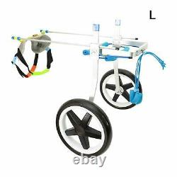 L Size Adjustable Dog Rehabilitation Wheel Chair for Handicapped Hind Legs Pet