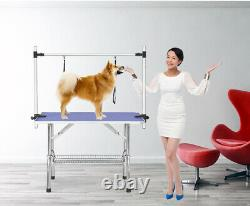 Large Grooming Table for Pet Dog and Cat with Adjustable Arm and Clamps Size 46