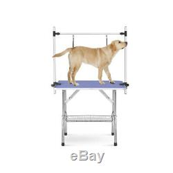 Large Size 46 Grooming Folding Table for Pet Dog and Cat with Adjustable Arm and