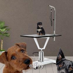 New 36'' Adjustable Pet Dog Cat Grooming Table Top Foam WithArm &Noose Tray C8N0