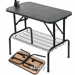 New Adjustable 32 Foldable Pet Dog Cat Grooming Table with Adjustable Arm/Noose