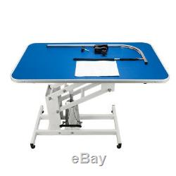 New Large Summer Pet Dog Cat Adjustable Heavy Hydraulic Grooming Table Desk Blue