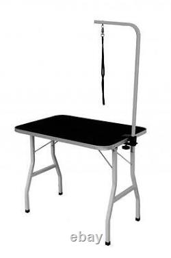 New Quality 32 Large Portable Adjustable Pet Dog Grooming Table with Arm / Noose