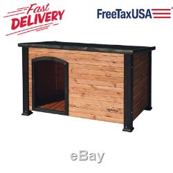 Outdoor Outback Dog House for Dogs Wood Weatherproof Pet Cabin Adjustable