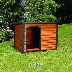 Outdoor Outback Dog House for Large Dogs Wood Weatherproof Pet Cabin Adjustable