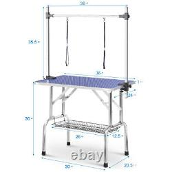 PRO Heavy Duty PET DOG CAT Grooming FOLDABLE&ADJUSTABLE 36 TABLE ARM&CLAMP&LOOP