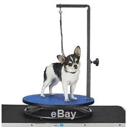 Pet Dog Cat Grooming Adjustable Table Stand with Portable Arm & Hair Loop Cut Clip