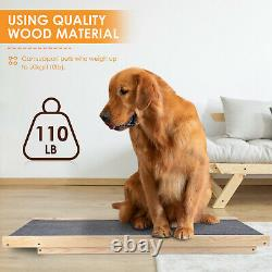 Pet Dog Cat Ramp 4 Adjustable Heights Bed/Couch 40 Folds Flat Support 110lb US