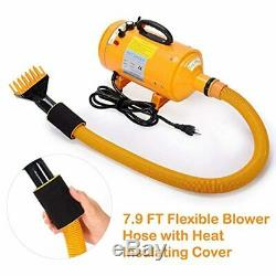Pet Dog Grooming Hair Dryer Blower 4.0 HP Adjustable Heat Temperature with 5 Nozzl