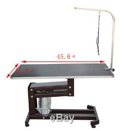 Pet Dog Hydraulic Lift Grooming Table Non-slip Square Desktop Steel Structure