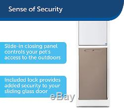 Pet Door for Dogs and Cats Adjustable Frame Aluminum Patio Panel Sliding Glass
