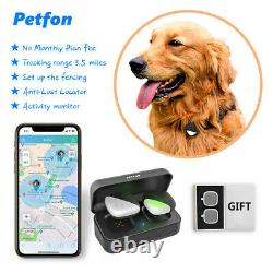 Pet GPS Tracker Collar Real-time Tracking Dog Activity Monitor Locator Anti-Lost