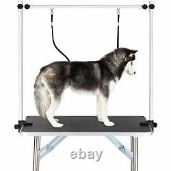 Pet Grooming Table Adjustable Arm with Double Grooming Loop Dog Cat Supplies