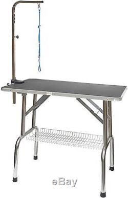 Pet Grooming Table Arm Dog Stainless Steel Heavy Duty Adjustable Groomers New