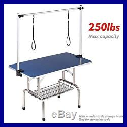 Pet Grooming Table For LARGE Dogs Adjustable Height Portable Trimming D BLUE 36
