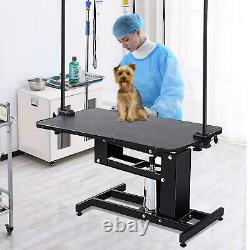 Pet Grooming Table Hydraulic Lifting Dog&Cat Table Adjustable Height 22.4-39.8