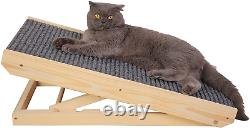 Pet Ramp and Cat Paw Scratcher, for Cats and Small Dogs, Adjustable Height-10