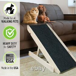 Pet Ramp for Dogs & Cats 5 Adjustable Heights & Supporting 270+lbs