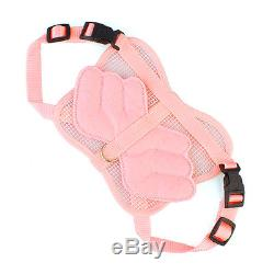 Pink Adjustable Pet Cat Dog Rabbit Angle Wing Style Harness Leash Strap For Pets
