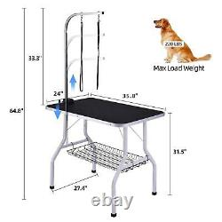 Portable Pet Dog Cat Grooming Table Foldable Adjustable Pet Grooming Table US