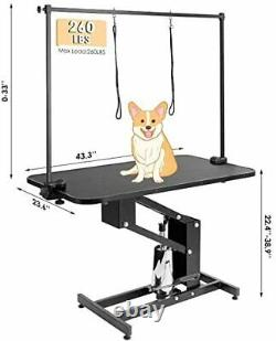 Pro 43 Hydraulic Pet Dog Grooming Table Adjustable Height for Medium Large Dogs