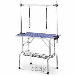 Professional 36 Foldable Pet Dog Cat Grooming Table with Adjustable Arm/Noose