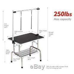 Professional Adjustable Heavy Duty Dog Pet Grooming Table 36L x 24W, Black