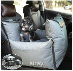 QUEENS NOSE Dog Car Seat Pet Car Seat with Front & Back Safety Protectors NEW