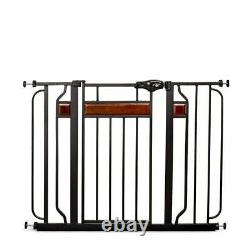 Retractable Baby Pet Gate Indoor Dog Child 30 to 42 Inch Wide Home Safety Tall