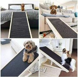 SASRL Adjustable Pet Ramp for All Dogs and Cats for Couch or Bed with Paw 40