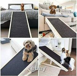 SASRL Adjustable Pet Ramp for All Dogs and Cats for Couch or Bed with Paw Trac