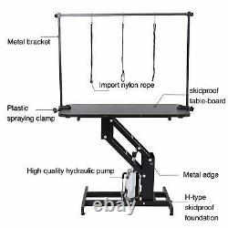 SUNCOO 43 Dog Cat Pet Grooming Table with Hydraulic Lift